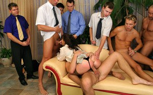 Hot Gang Bang Sex Photos